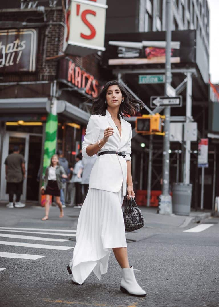 White monochromatic outfit