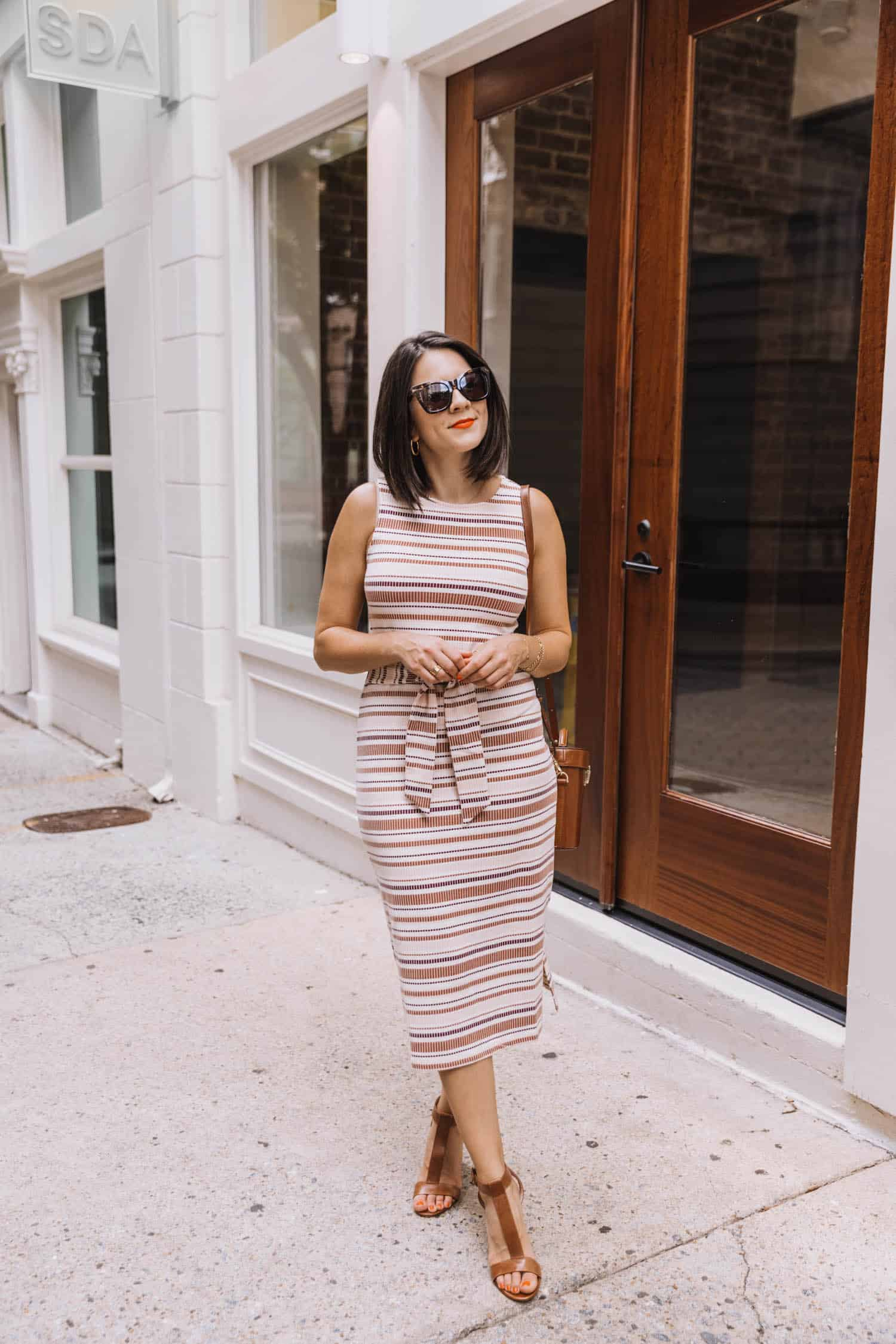 Striped Midi Dress Styled Two Ways