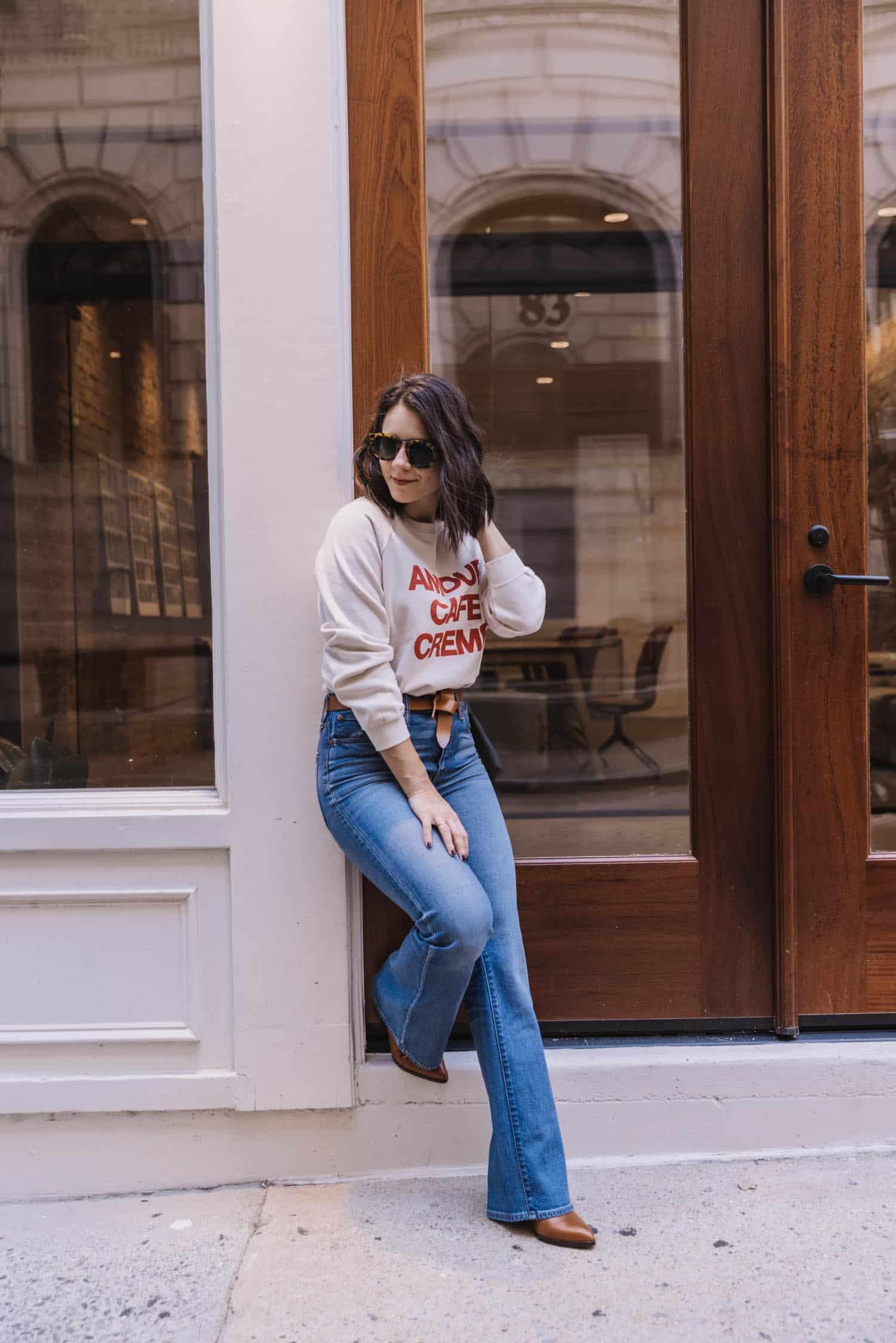 A Sezane Sweatshirt For Fall