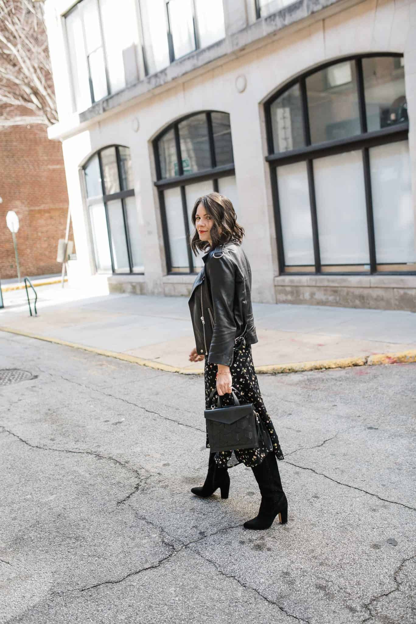 Leather & Suede Jackets With Fall Dresses