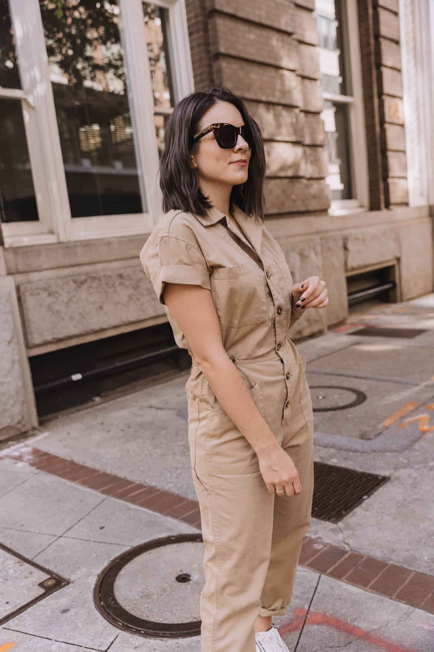 Pistola jumpsuit with sneakers
